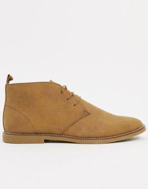 Topman chukka boots in beige