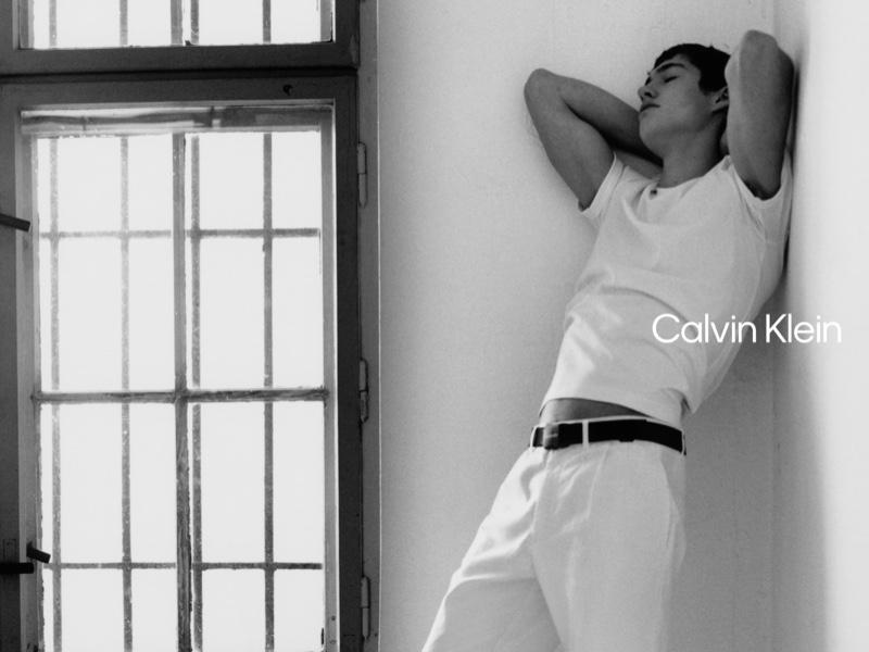 Luis Alberto Rodriguez photographs Valentin Humbroich for Calvin Klein's spring-summer 2021 campaign.