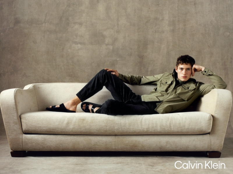 Model Valentin Humbroich fronts Calvin Klein's spring-summer 2021 campaign.