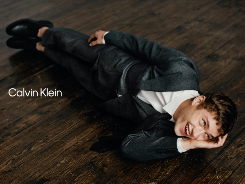 Exuding great charm, Valentin Humbroich stars in Calvin Klein's spring-summer 2021 campaign.