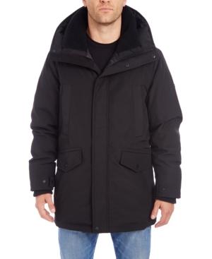 Vince Camuto Men's Parka With Faux Fur Hood Trim Jacket