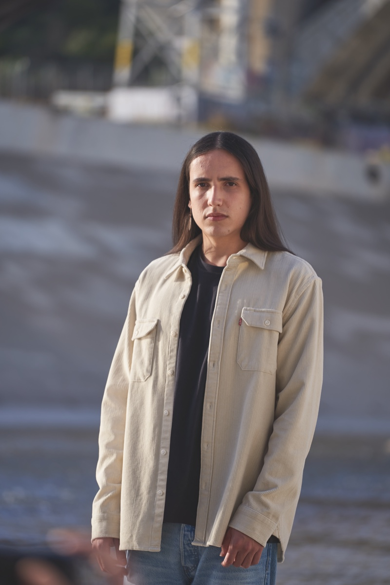 Xiuhtezcatl Martinez appears in Levi's Buy Better, Wear Longer campaign.