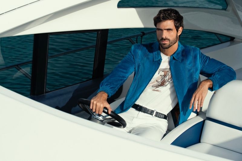 Juan Betancourt fronts ZILLI's spring-summer 2021 campaign.