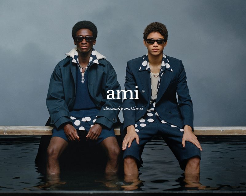 Models Mamadou Diagne and Jeranimo van Russel come together for AMI Paris' spring-summer 2021 campaign.
