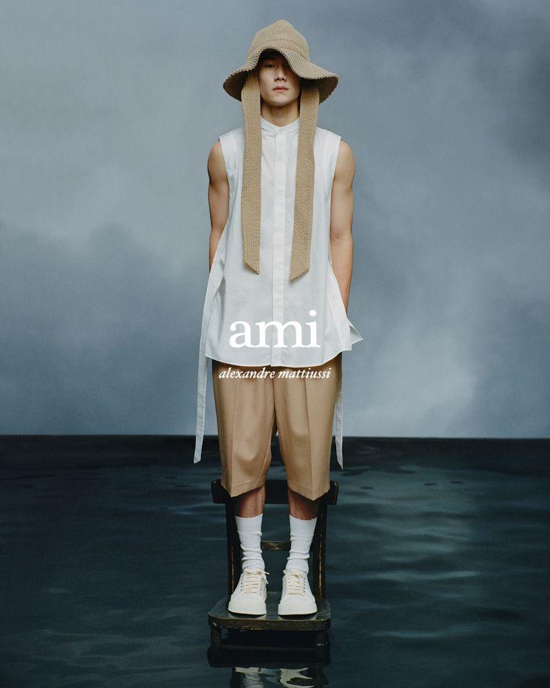 Jie Zheng stars in AMI Paris' spring-summer 2021 campaign.