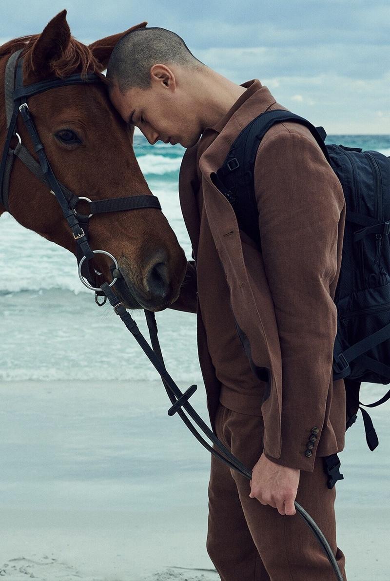 Alvaro Pujol Enjoys Nature's Ethereal Beauty with Luisaviaroma