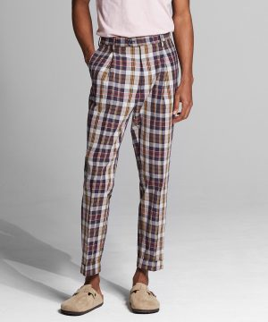 Authentic Indian Madras Madison Dress Pant in Multi