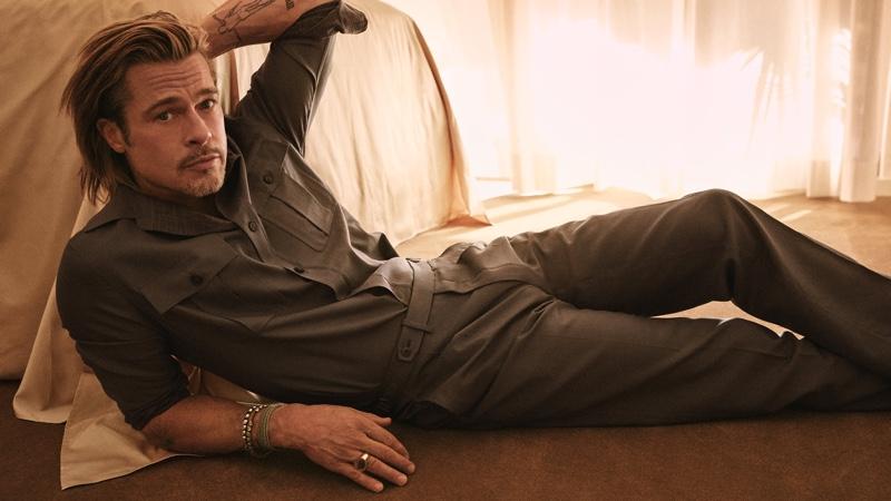 Brad Pitt stars in Brioni's spring-summer 2021 campaign.