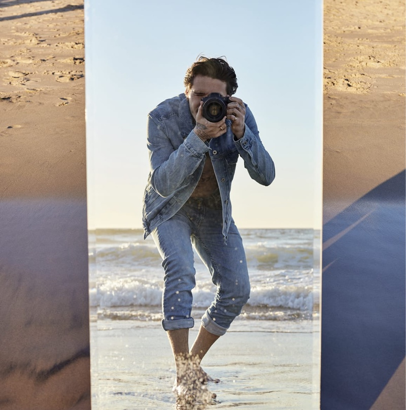 Pepe Jeans taps Brooklyn Beckham as the star of its sustainable Wiser Wash denim campaign.