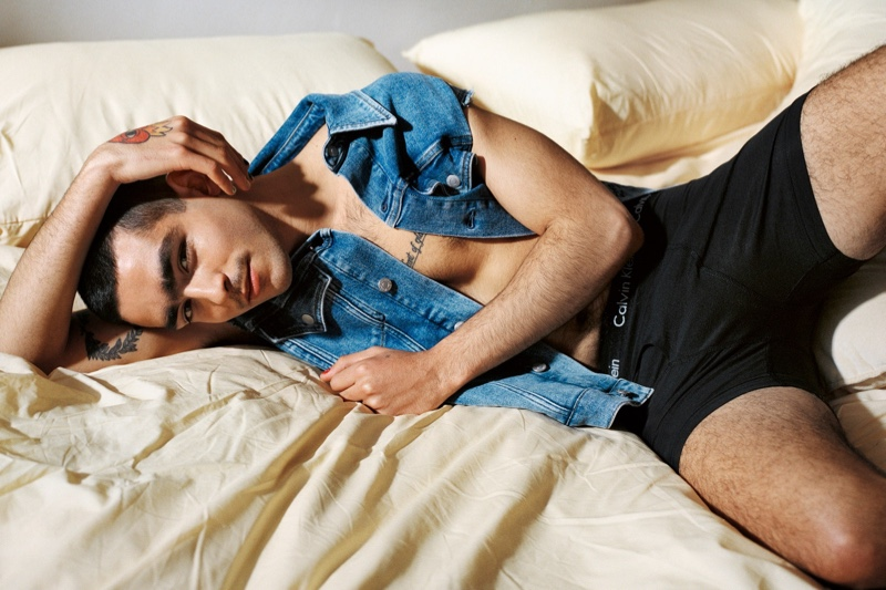 Omar Ayuso stars in Calvin Klein's #proudinmycalvins campaign.