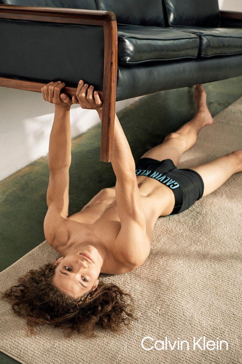 Ryan McGinley photographs Jaleen Oliver for Calvin Klein's spring-summer 2021 underwear campaign.