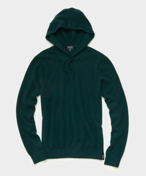 Cashmere Hoodie in Deep Green