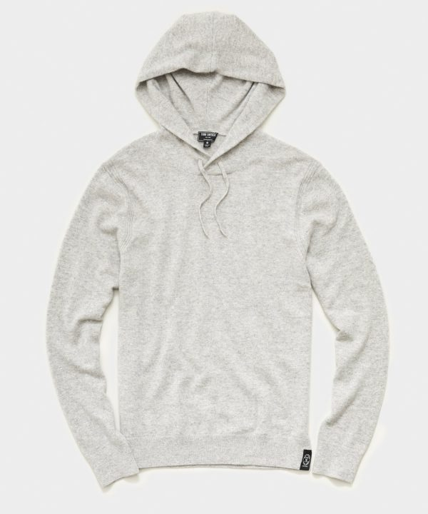 Cashmere Hoodie in Heather Oatmeal
