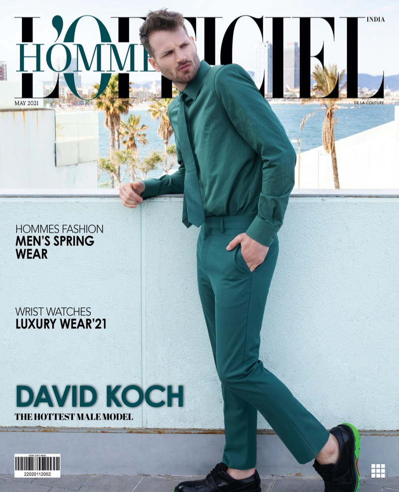 David Koch Sports Summer Style for L'Officiel Hommes India