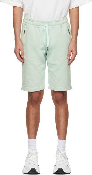 Dolce & Gabbana Green Jersey Jogging Shorts