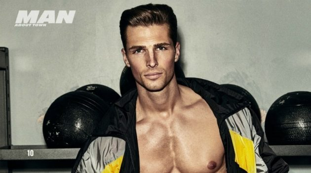 Edward Wilding Channels His Inner Adonis for Man About Town