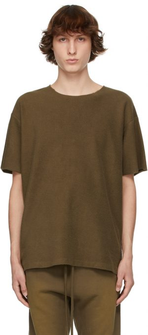 Fear of God Brown Inside Out Terry T-Shirt