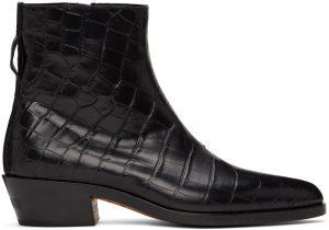 Fear of God Ermenegildo Zegna Black Alligator Texas Boots