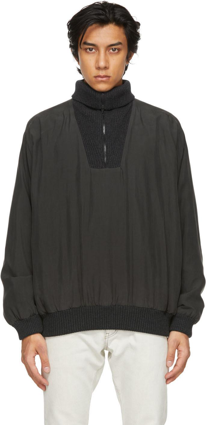 Fear of God Ermenegildo Zegna Black Silk Anorak Jacket
