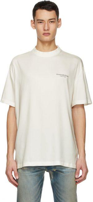 Fear of God Ermenegildo Zegna Off-White Oversized T-Shirt