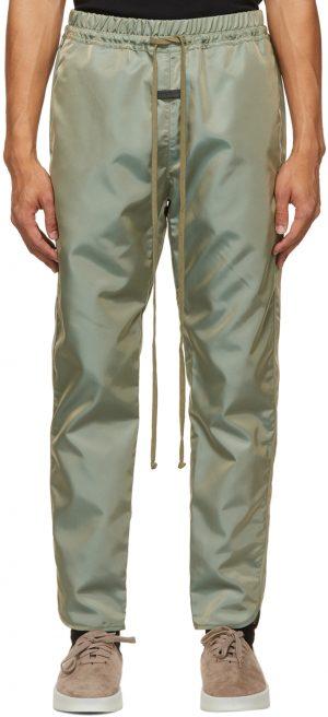 Fear of God Green Nylon Track Pants