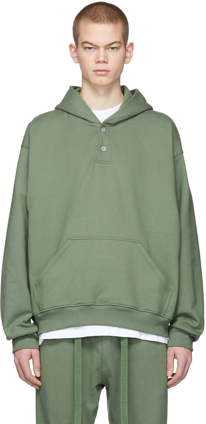 Fear of God Green 'Sixth Collection' Everyday Henley Hoodie