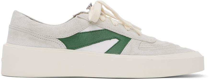 Fear of God Grey & Green Skate Low Sneakers