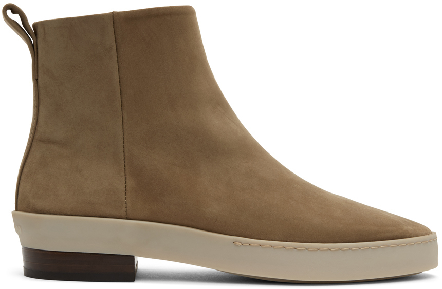 Fear of God Taupe Nubuck Chelsea Boots