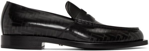 Fendi Black 'Forever Fendi' Loafers