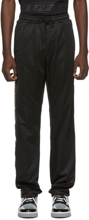 Fendi Black 'Forever Fendi' Tape Lounge Pants