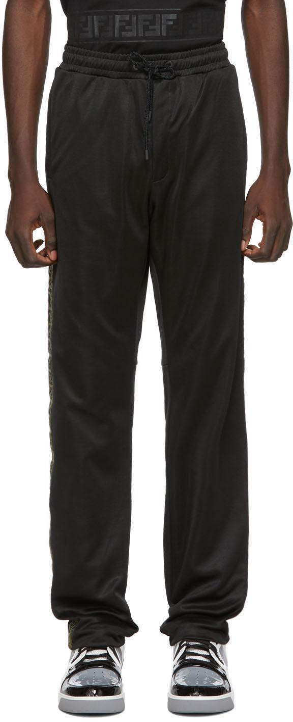 Fendi Black 'Forever Fendi' Tape Lounge Pants