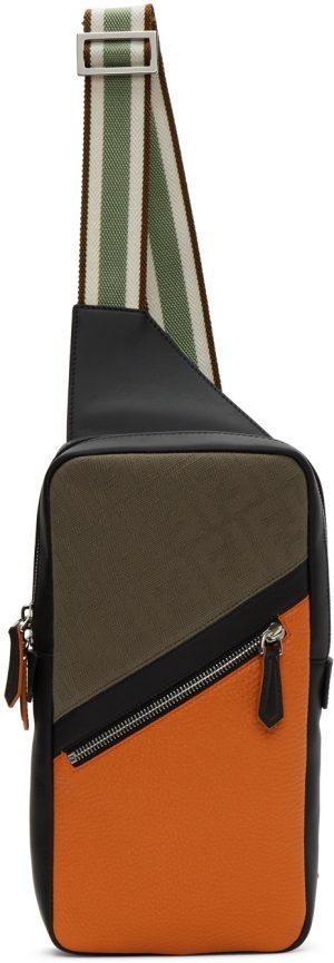 Fendi Black & Brown 'Forever Fendi' Messenger Bag