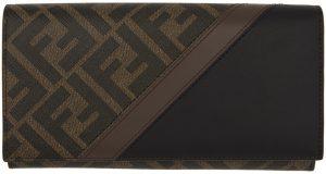 Fendi Brown & Black 'Forever Fendi' Continental Wallet