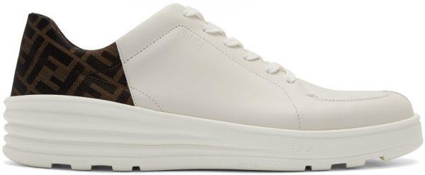 Fendi White 'Forever Fendi' Hybrid Sneakers