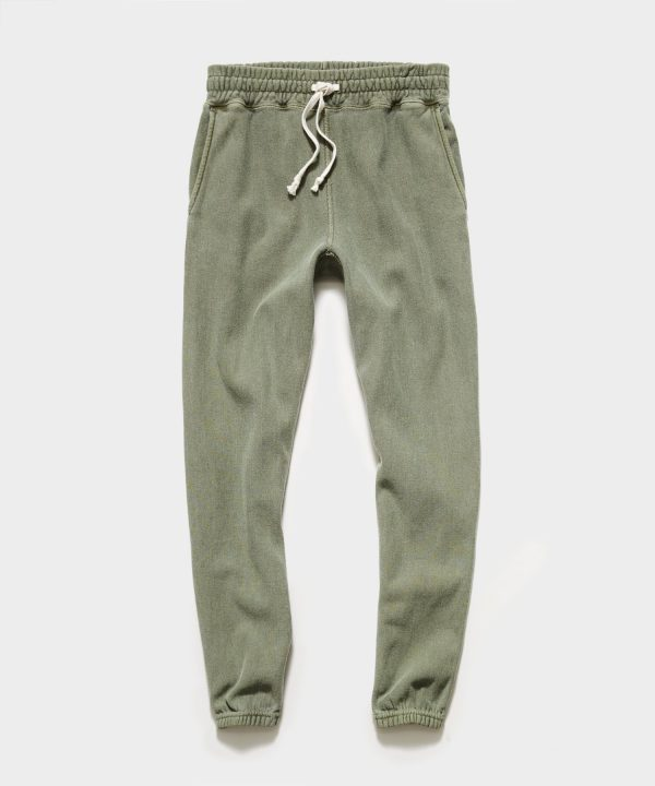 Garment Dyed Classic Sweatpant in Olive