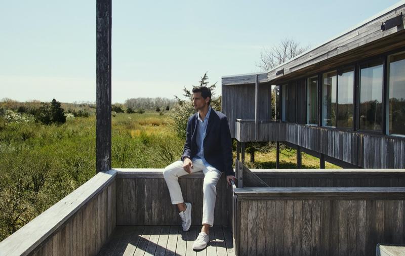 Garrett Neff Takes to South Hampton with Massimo Dutti