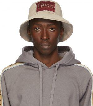 Gucci Beige Label Bucket Hat
