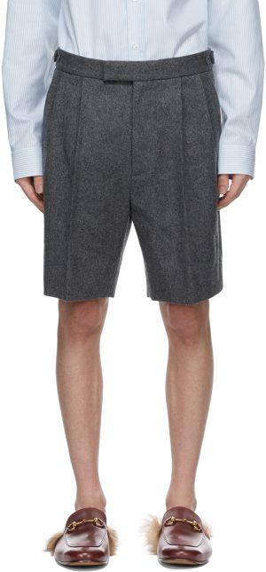 Gucci Grey Wool Flannel Shorts