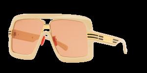 Gucci Man GC001519 - Frame color: White, Lens color: Orange Gradient, Size 60-19/140