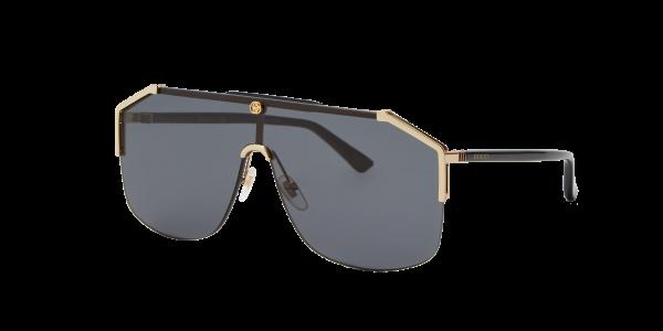 Gucci Man GG0291S - Frame color: Gold Shiny, Lens color: Grey-Black, Size 60-00/145