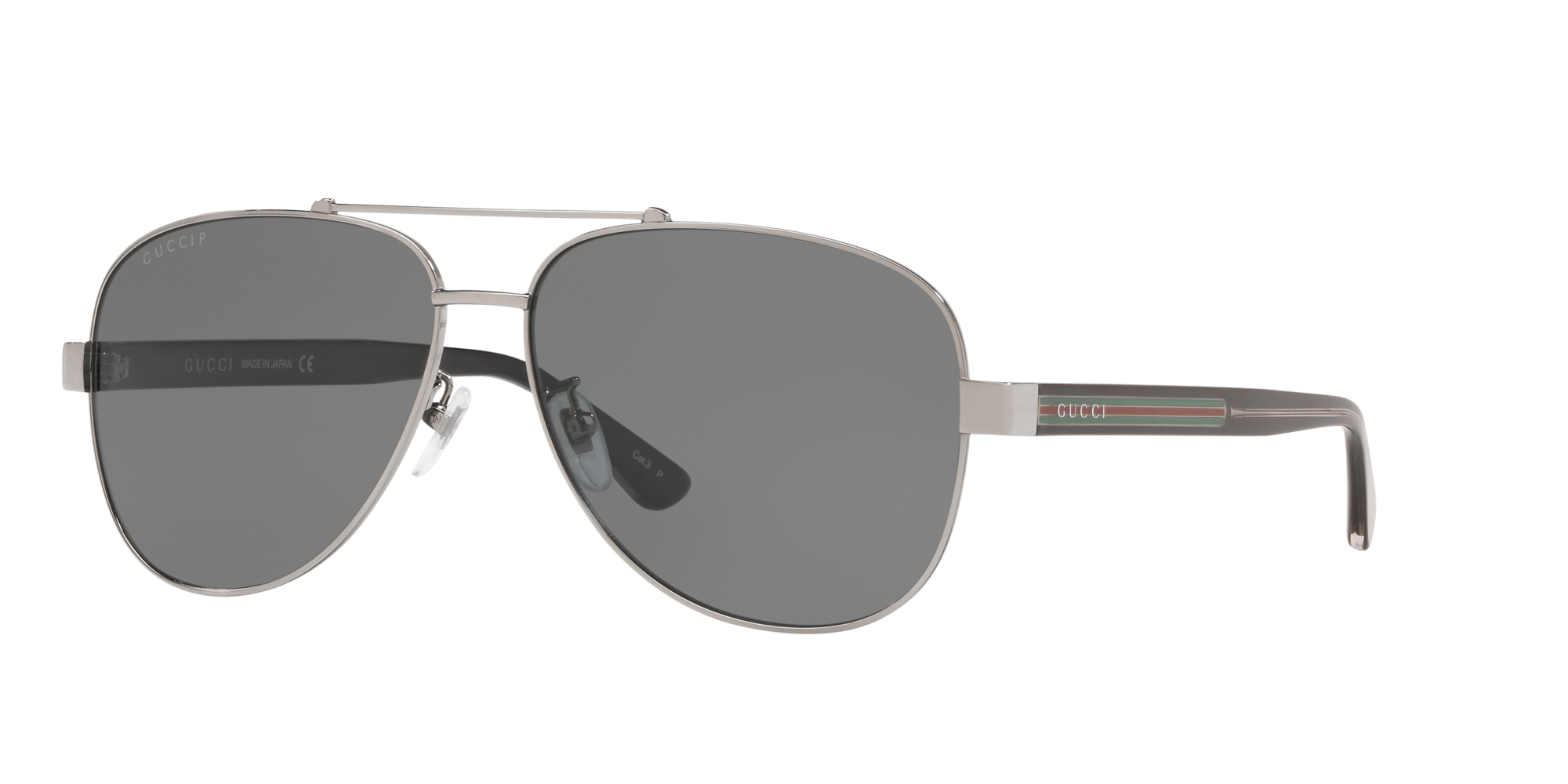 Gucci Man Gg0528s - Frame color: Silver, Lens color: Grey-Black, Size 63-14/150