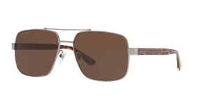 Gucci Man Gg0529s - Frame color: Silver, Lens color: Brown, Size 60-17/145