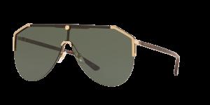 Gucci Man Gg0584s - Frame color: Gold, Lens color: Green, Size 99-01/140