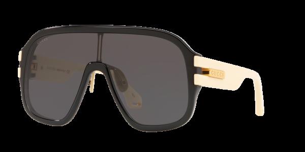 Gucci Man Gg0663s - Frame color: Black, Lens color: Grey-Black, Size 44-00/145