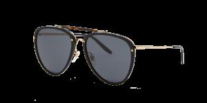 Gucci Man Gg0672s - Frame color: Black, Lens color: Grey-Black, Size 58-19/145
