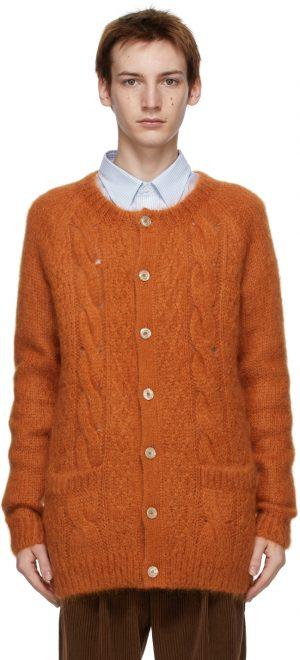 Gucci Orange Mohair GG Cardigan