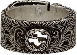 Gucci Silver Interlocking G Garden Ring