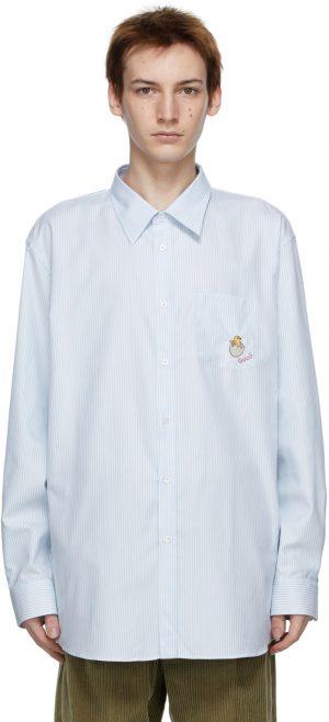 Gucci White & Blue Stripe Chick Shirt