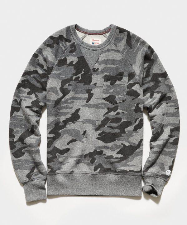 Heather Grey Camo Pocket Sweatshirt