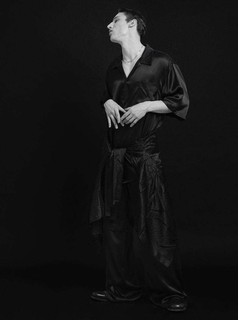 Iasonas Laios Rocks Leather, Lace + More for Esquire España